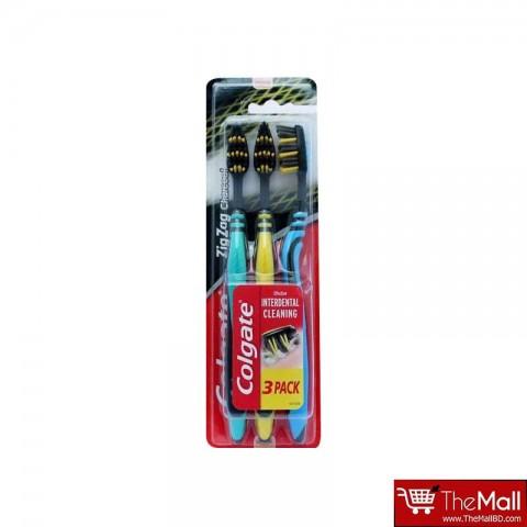 Colgate Toothbrush Charcoal Zigzag 3pk - Yellow