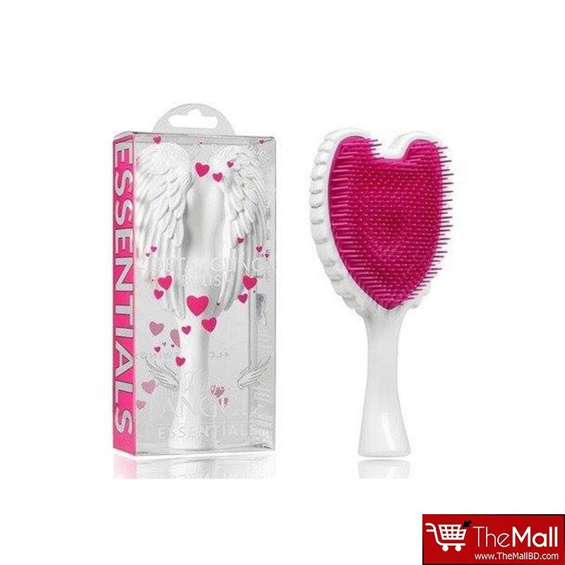 Tangle Angel Essentials Detangling Hair Brush - White & Fuschia