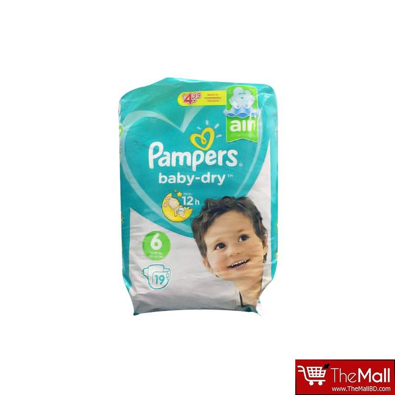 Pampers Baby Dry Belt Up To 12h 6 (13-18 kg) UK 19 Nappies