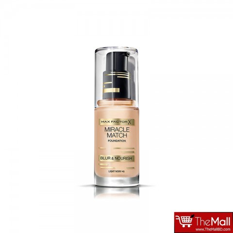 Max Factor Miracle Match Blur & Nourish Foundation - Light Ivory 40