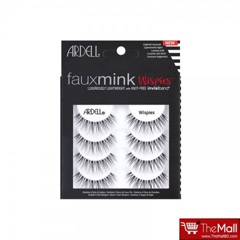 Ardell Fauxmink Eye Lashes 4 pairs - Wispies
