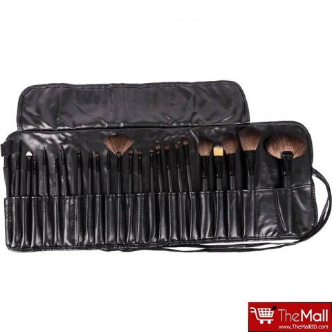 Lilyz Makeup Brush Set 24 Pcs - Black