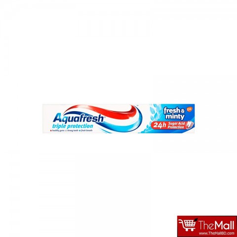 Aquafresh Triple Protection Fresh & Minty Toothpaste 24h Sugar Acid Protection - 75ml