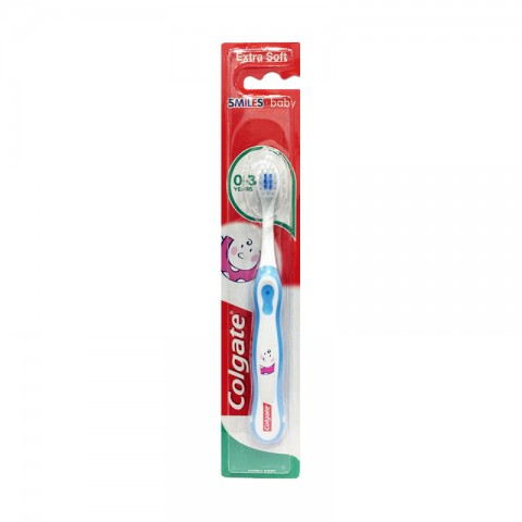 Colgate Smiles Extra Soft  Baby Tooth Brush  0-3 years - White & Blue