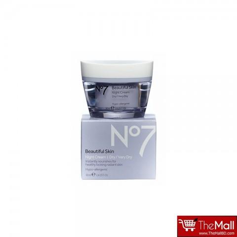 No7 Beautiful Skin Night Cream Dry/Very Dry  50ml