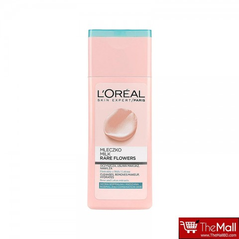 L'oreal Skin Expert Rare Flowers Cleansing Milk For Normal And Combination Skin 200ml