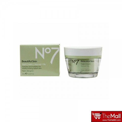 No7 Beautiful Skin Night Cream Normal/Oily 50ml