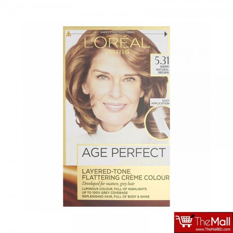 L'oreal Paris Age Perfect By Excellence Layered Tone Flattering Creme Hair Colour - 5.31 Warm Natural Brown