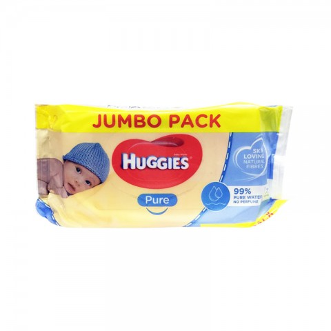 Huggies Pure Baby Wipes 72 Wipes - Jambu Pack
