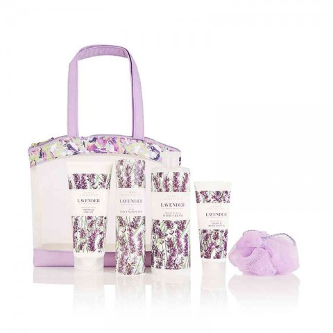 M&S Beauty Floral Collection Lavender Toiletry Bag