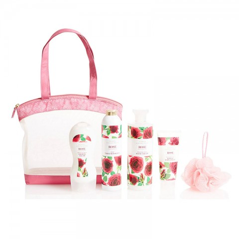 M&S Beauty Floral Collection Rose Toiletry Bag