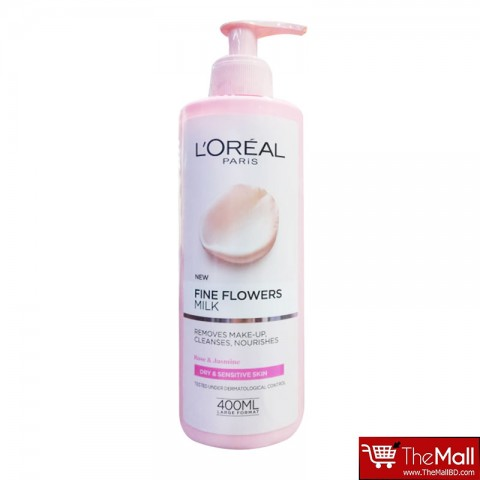 L'Oreal Paris Fine Flowers Cleansing Milk Dry & Sensitive Skin 400ml