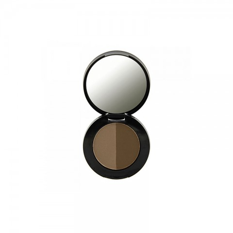 Makeup Revolution Duo Eyebrow Powder 2.2g - Dark brown