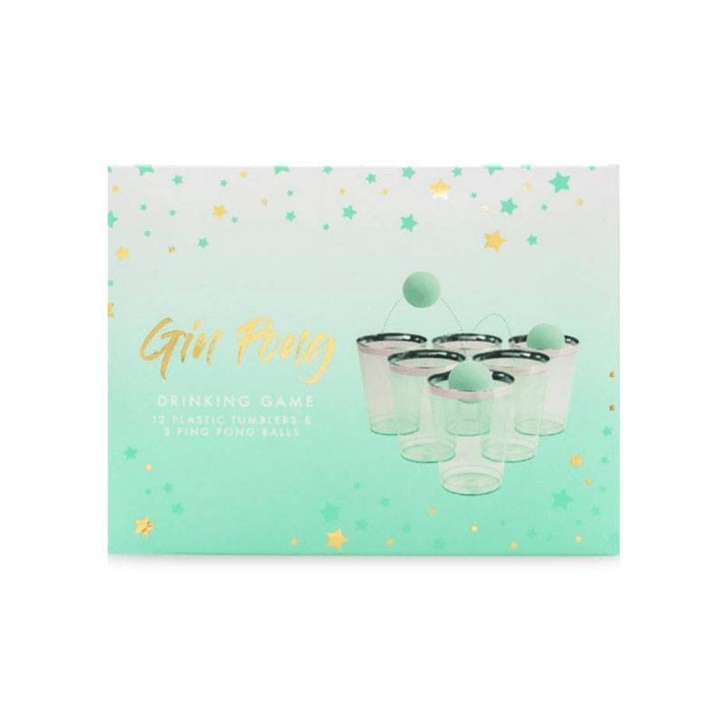 Gin Pong Drinking Game Gift Set