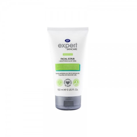 Boots Expert Skin Care Facial Scrub for Sensitive Skin 150ml