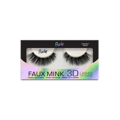 Rude Faux Mink 3D Lashes - 88335 Narcissist