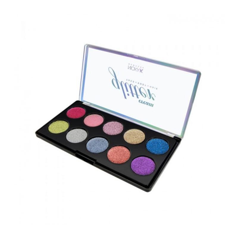 Nicka K Glitter Cream Palette For Face, Body & Hair - AP045