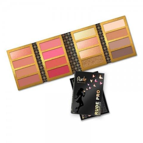 RUDE PRO Butterflies Blush/Highlight/Contour Palette