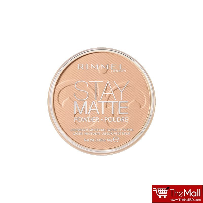 Rimmel Stay Matte Pressed Powder 14g - 005 Silky Beige
