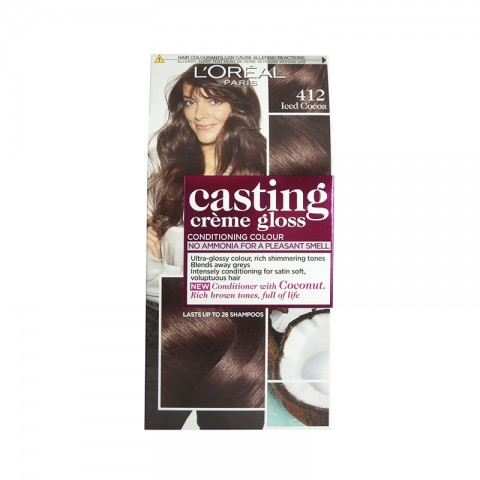 L'Oreal Casting Creme Gloss Conditioning Hair Colour - 412 Iced Cocoa