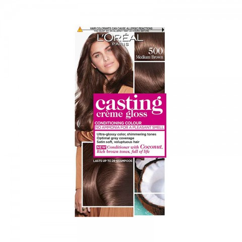 LOreal Casting Creme Gloss Conditioning Hair Colour - 500 Medium Brown