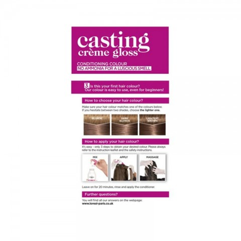 L'Oreal Casting Creme Gloss Conditioning Hair Colour - 780 Caramel Moccaccino