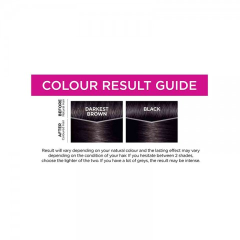 L'Oreal Casting Creme Gloss Conditioning Hair Colour - 200 Ebony Black