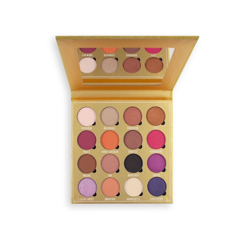 Makeup Revolution Obsession Eyeshadow Palette - Life Is A Party - 16 Shades