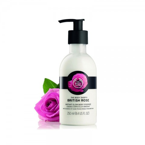 The Body Shop British Rose Instant Glow Body Essence 250ml