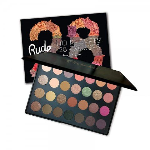 Rude No Regrets No Excuses 28 Color Eyeshadow Palette - VIRGO
