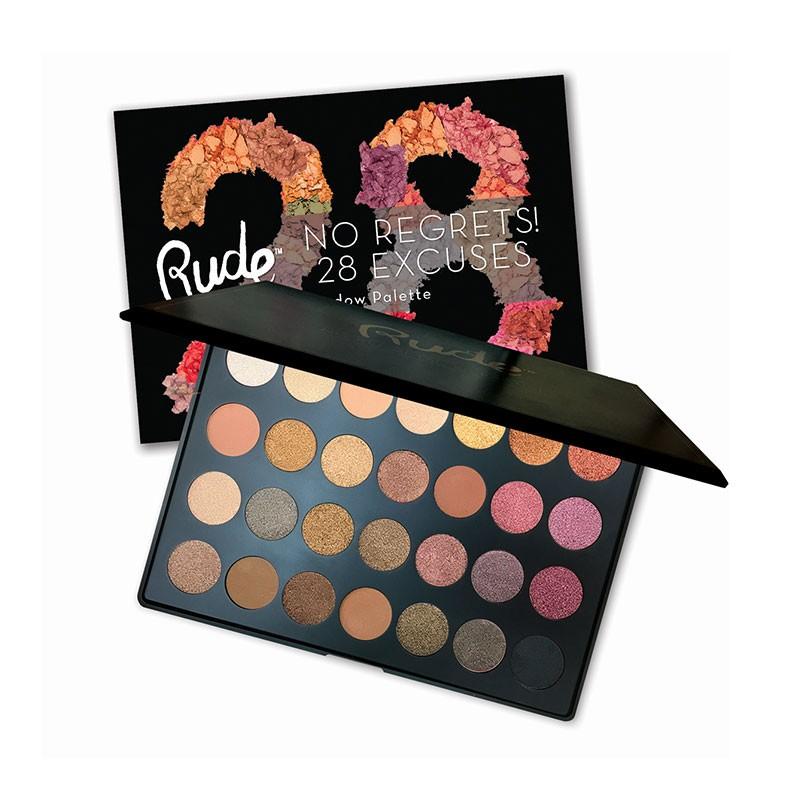 Rude No Regrets No Excuses 28 Color Eyeshadow Palette - Scorpio