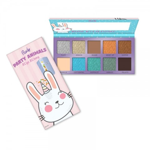 Rude Party Animal 10 Eyeshadow Palette - RUgs Runny