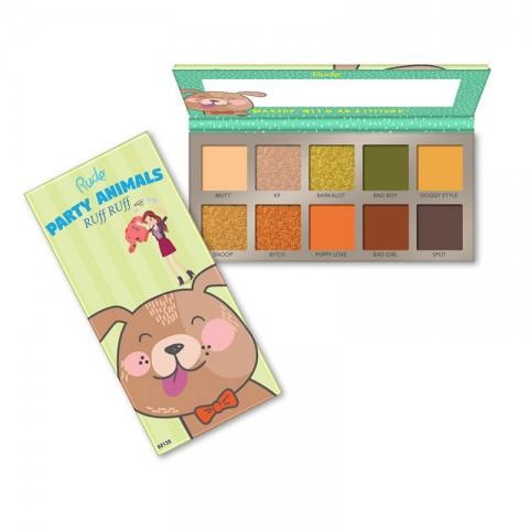 Rude Party Animal 10 Eyeshadow Palette - RUff Puff