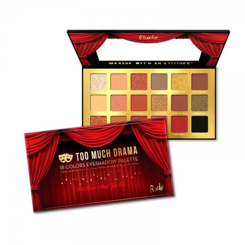 Rude Too Much Drama 18 Color Eyeshadow Palette
