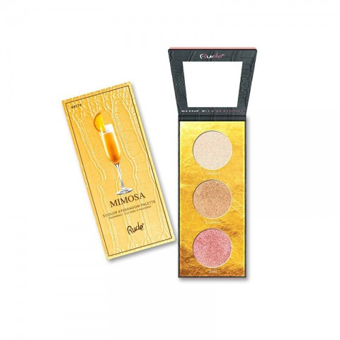 Rude Cocktail Party Luminous  3 Color Highlighter / Eyeshadow Palette - MIMOSA