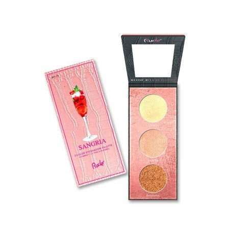 Rude Cocktail Party Luminous  3 Color Highlighter / Eyeshadow Palette - SANGRIA