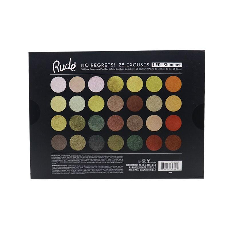 Rude No Regrets No Excuses 28 Color Eyeshadow Palette - LEO Shimmer
