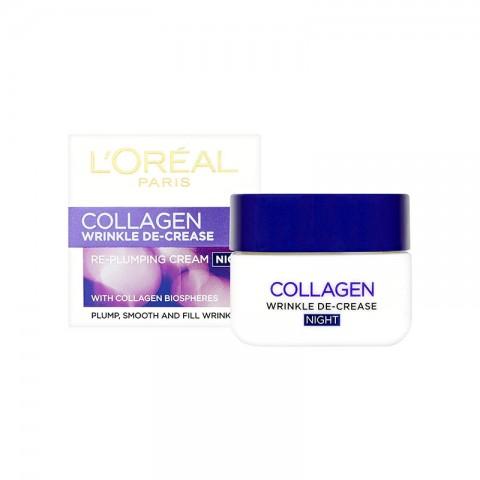 L'oreal Collagen Wrinkle De- Crease Re- Plumping Night Cream 50ml