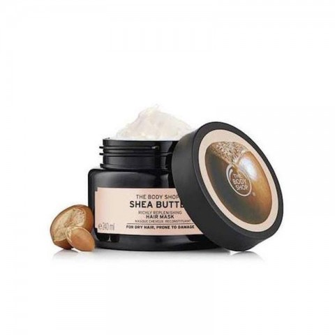 The Body Shop Shea Butter Richly Replenishing Hair Mask For Dry Hair, Prone To Damage 240ml