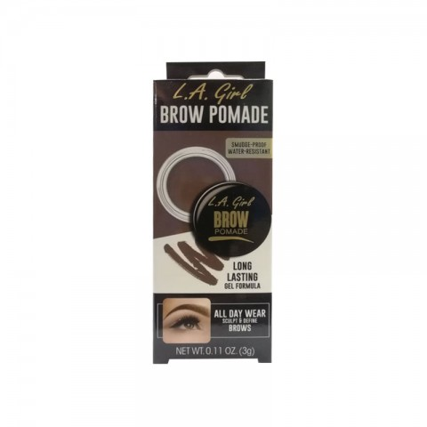 L.A. Girl Brow Pomade Long Lasting Gel Formula 3g - GBP363 Soft Brown