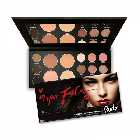 Rude In Your Face 3 In 1 EyeBrow / Contour / Eyeshadow  Palette