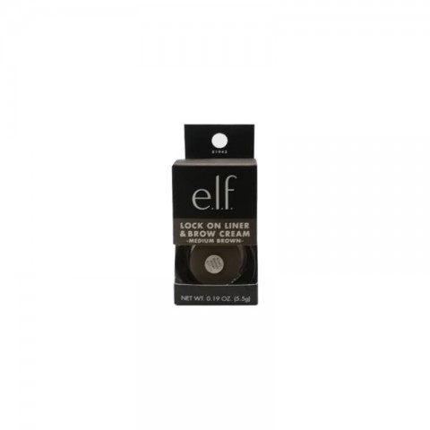 e.l.f. Lock On Liner & Brow Creme 5g - Medium Brown