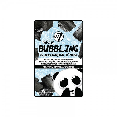 W7 Self Bubbling Black Charcoal O2 Mask Sheet 20g
