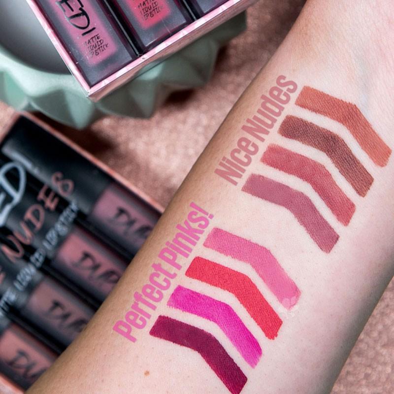 W7 Duped Matte Liquid Lipstick Set - Nice Nudes