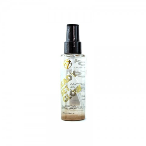 W7 Ready Set Glow Illuminating Setting Spray 100ml - Gold