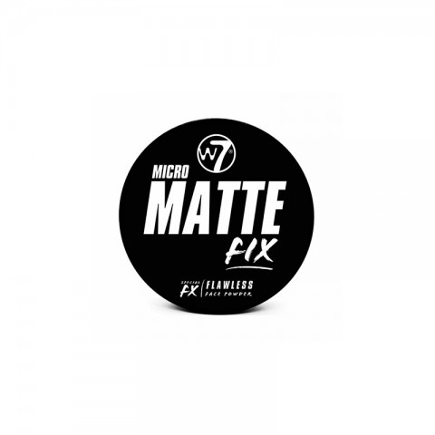 W7 Micro Matte Fix Flawless Face Powder 6g - Light