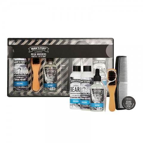 Technic Man'Stuff Original Mega Whiskers Beard Kit Gift Set (91112)