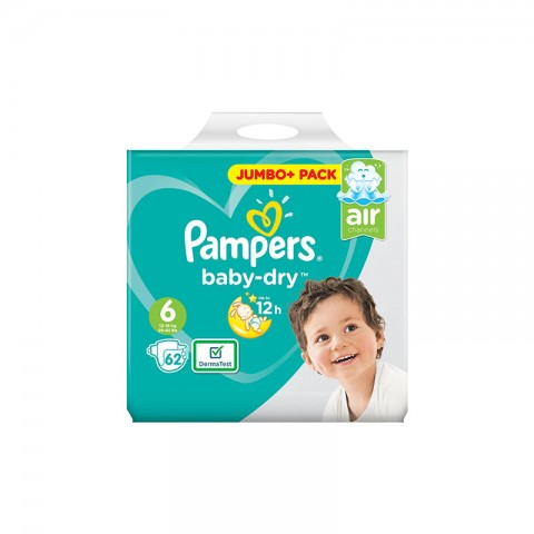 Pampers Baby Dry Belt Up To 12h 6 (13-18 kg) UK 62 Nappies