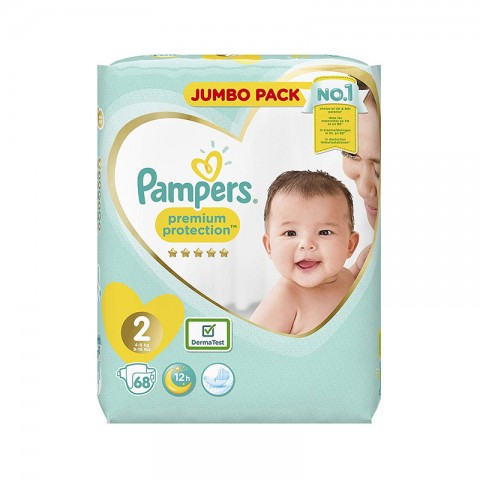 Pampers Baby-Dry Up to 12h Belt Nappy 2 ( 4 - 8 kg )  68 Nappies