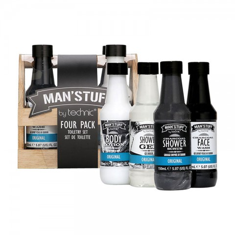 Technic Man'Stuff Four Pack Toiletry Gift Set